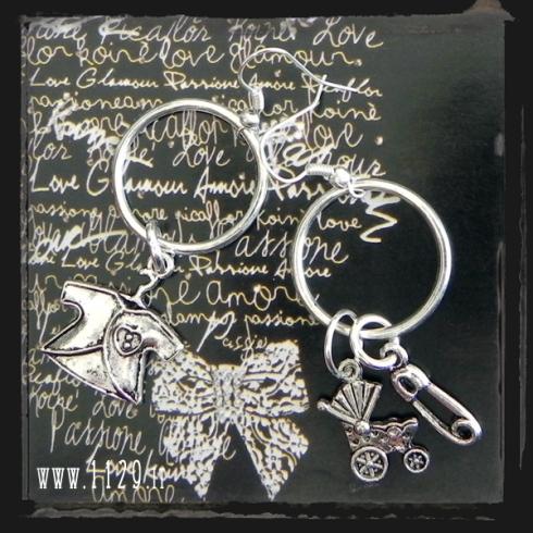 MDBABY orecchini argentati dolce attesa baby earrings 1129